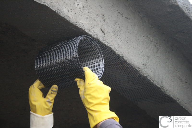 Deckenverstärkung mit Carbongelege (Bild: Enrico Lorenz)