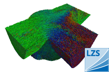 Fibre angle analysis of an injection- moulded component